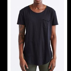 Urban Outfitters Curved Hem Shirt